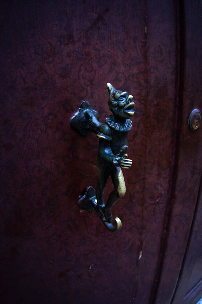 Venetian Clown Door Handle
