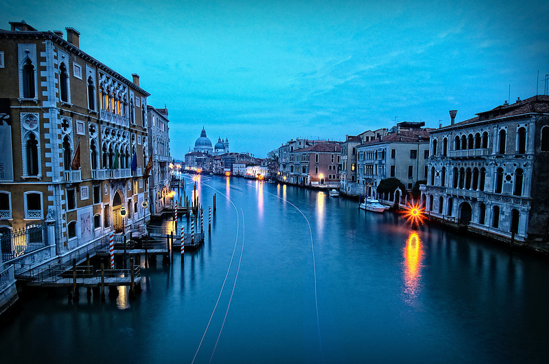 Accademia Bridge View Dusk