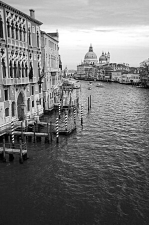 Accademia Bridge View B&W