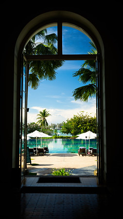 The Danna Hotel Pool Entrance
