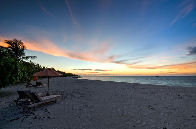 Maldivian Beach Sunset 2