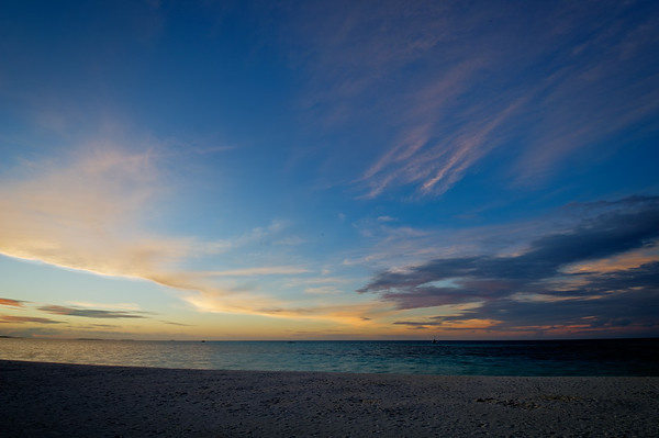 Maldivian Beach Sunset 1