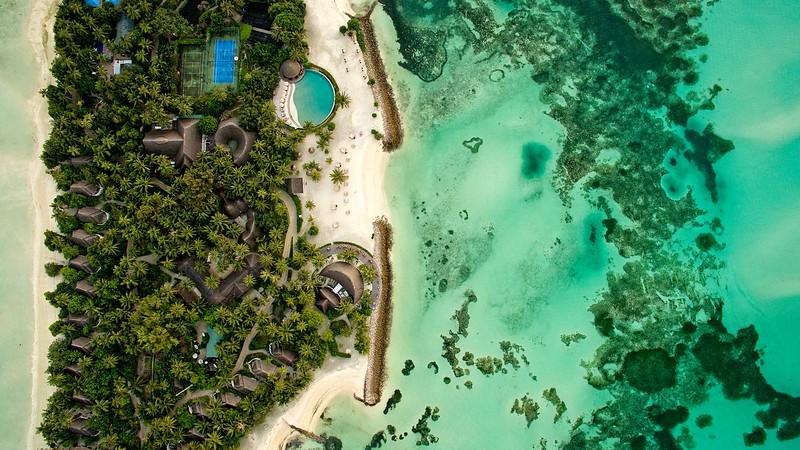 Lux Hotel Pool Aerial