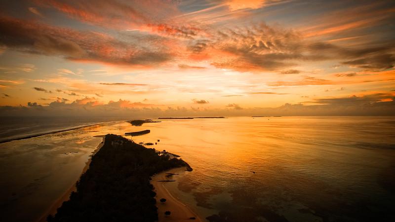 Lux Sunset Aerial