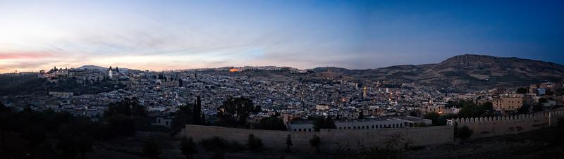 Fez Medina Sunset Panorama