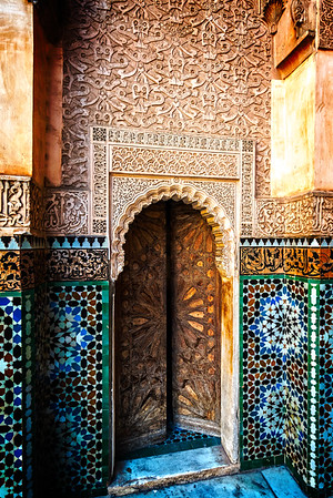 Ben Youssef Madrasa Door