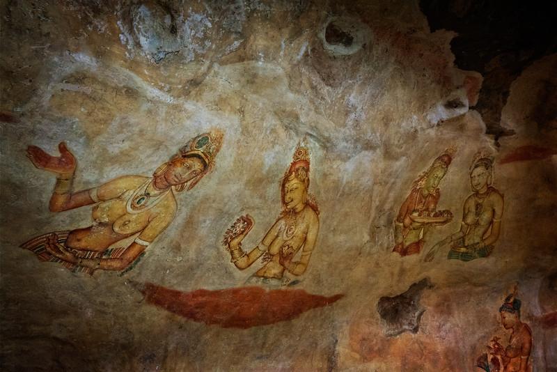 Sigiriya Rock Frescos 1
