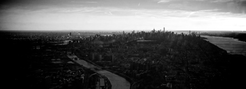 B&W Cloudy Manhattan Sunset