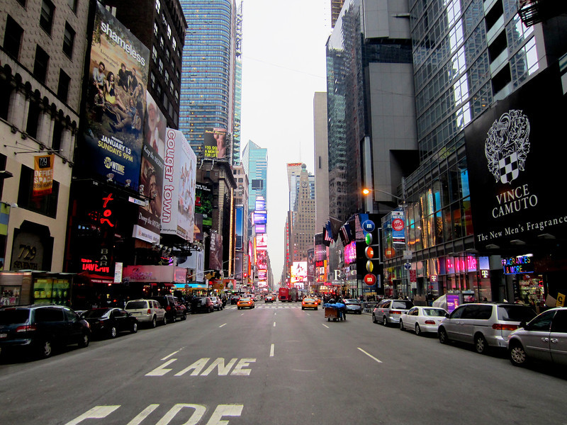 Times Square from West 49th Street looking South