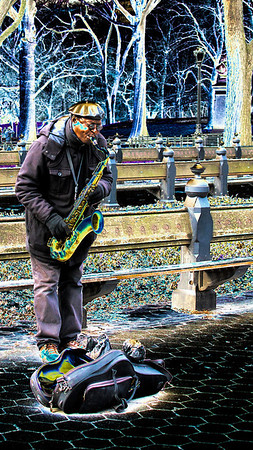 Funkadelic Saxophone Player in Central Park