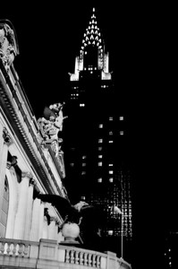 Chrysler Building from Grand Central Station B&W
