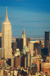 Empire State & Chrysler Buildings from the air