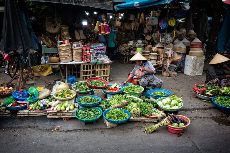 Hoi An Vegetable Vendor