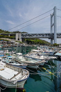Boats Docked In Shimotsui