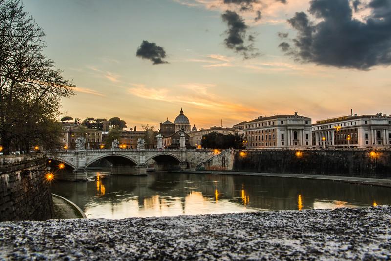 The Tiber River, Rome