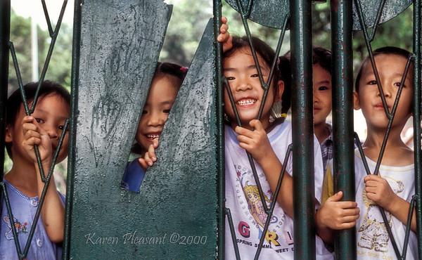 School children, Yangshuo