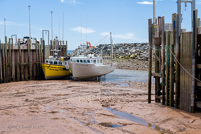 Alma harbour at low tide