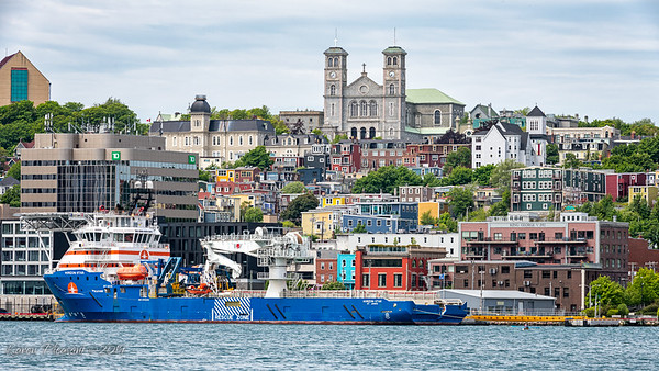 St. John's harbour - The Basilicia overlooking the city