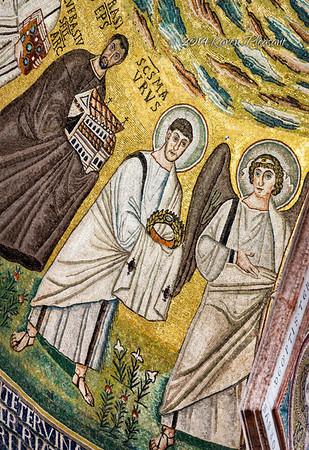 The Euphrasian Basilica in Porec - ceiling detail
