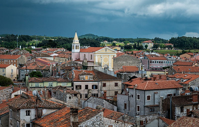 View from tower, Porec