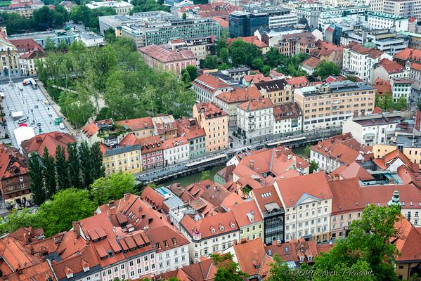Ljubljana from hilltop castle