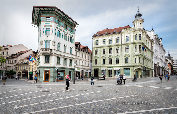 Ljubljana's Old City Center