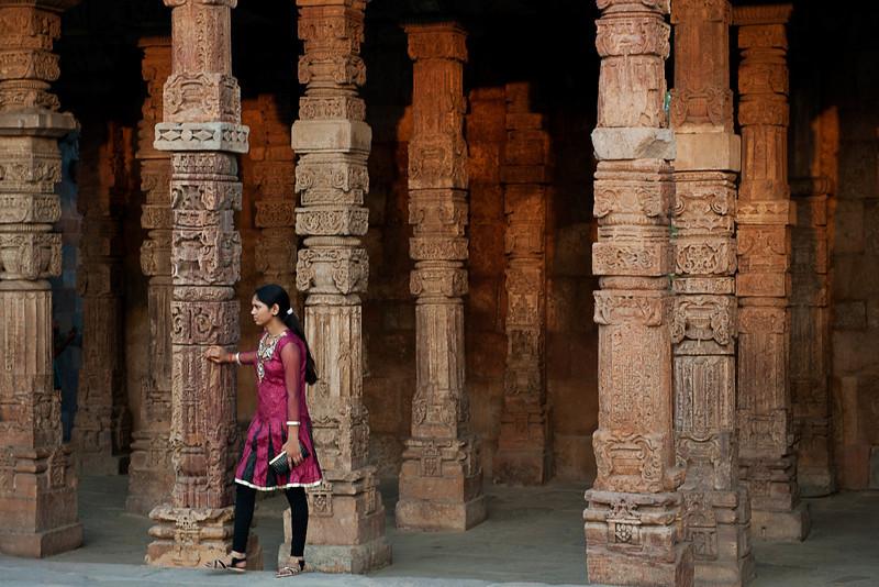 inside the Qutab Minar site