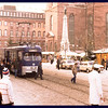 Strassenbahn (streetcar) on a cold Winter day.