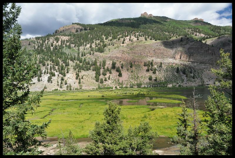 Moose Habitat - Wetlands at inflow to Lake San Cristobal