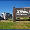 JW and Phay by the Welcome to Alberta - Wild Rose Country