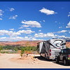 Phay and JW at our KOA RV Site in Moab, Utah