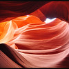 Sandstone Sculpted by Wind and Water in Lower Antelope Canyon