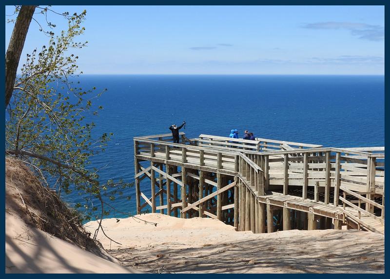 JimRob at Lake Michigan Overlook (Photo by IM)