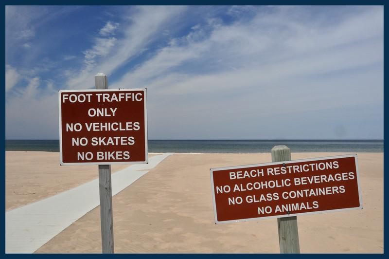 No This and No That (Signs) No Vehicles, No Skates, No Bikes, No Alcoholic Beverages, No Glass Containers, No Animals