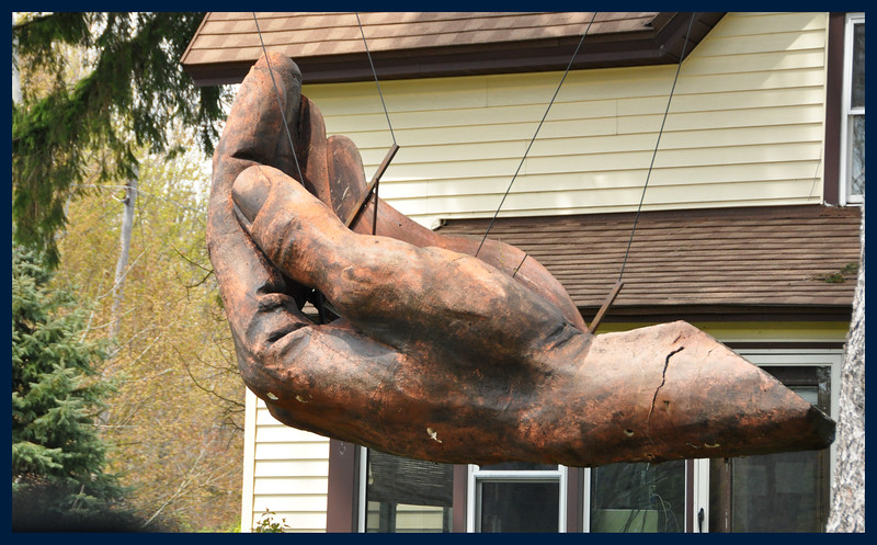 A giant hand hanging from two big trees - I take some photographs I can't explain.