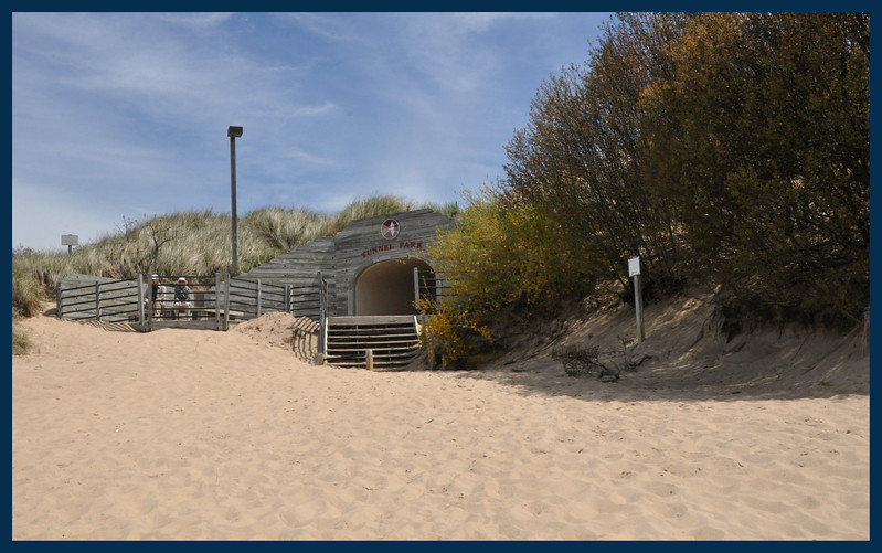 The Tunnel through the dunes to the Parking area