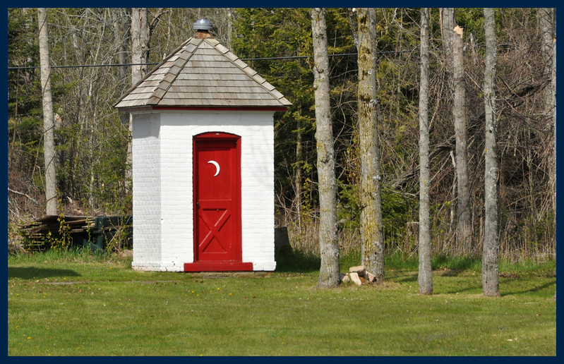 The Sturgeon Point Lighthouse Outhouse