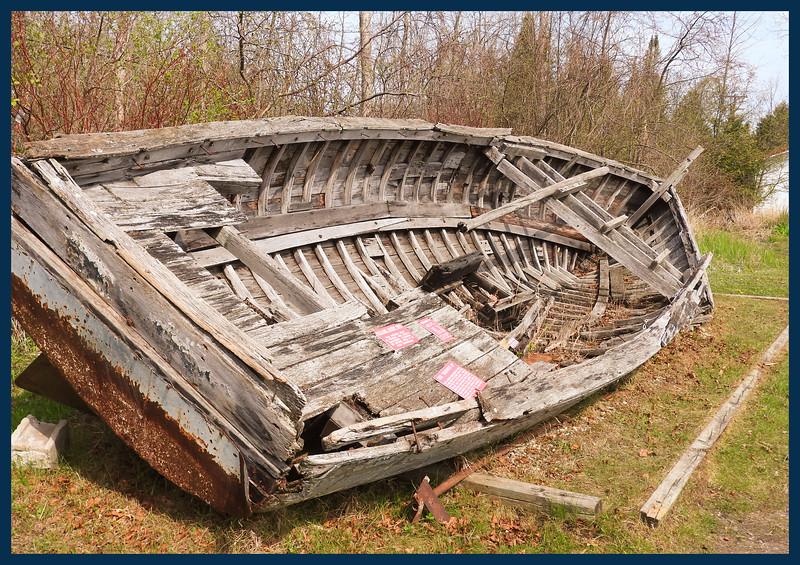 "The Remains of the old boat ""Bernice D"" built in Peshtigo, Wisconsin in 1915"