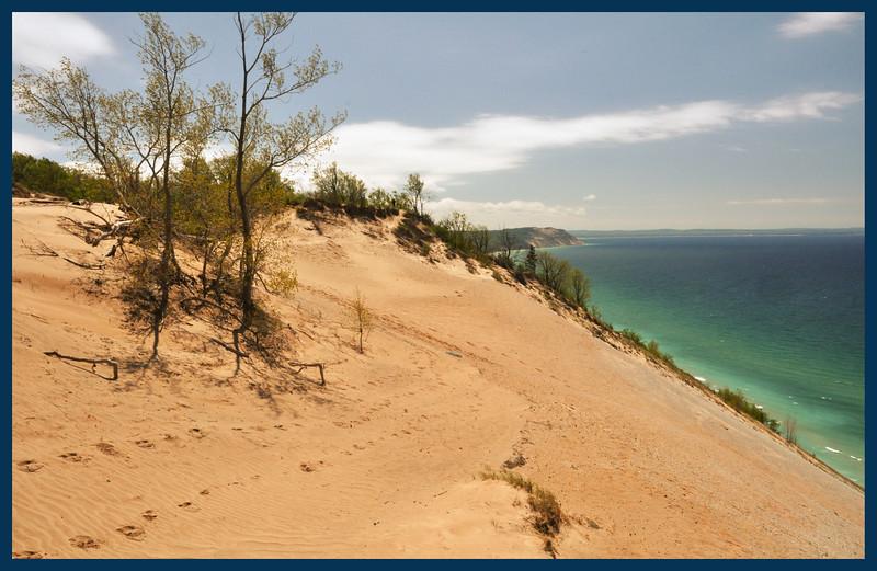Lake Michigan overlook.