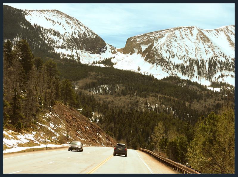 Highway scenes of U.S. 160 over La Veta Pass