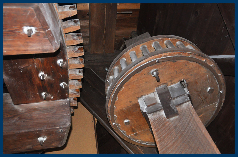 The Windmill's wooden gears.