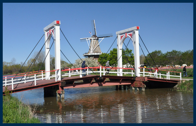A Dutch style canal bridge.