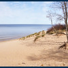 IM on the shore of Lake Michigan