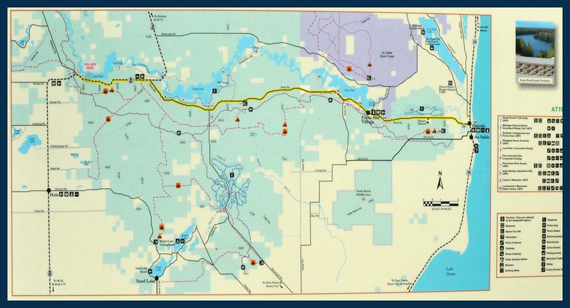 Map of the Scenic Byway.