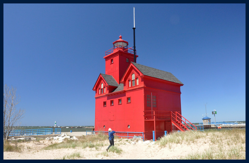 "IM at ""Big Red"" Lighthouse."