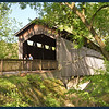 Ada Covered Bridge (with people taking photographs on Mother's Day).