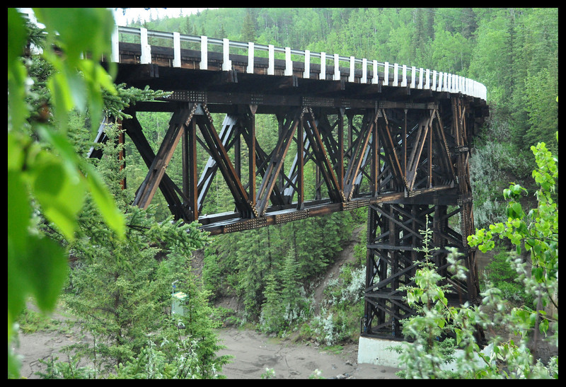 Kiskatinaw Bridge, the only Original Alaska Highway Bridge still in use