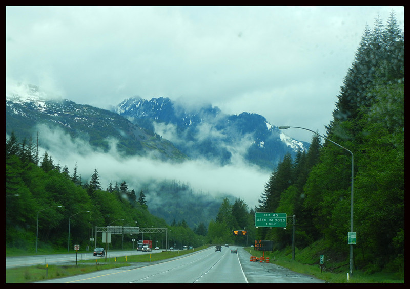 Interstate 90 near Snoqualmie Pass
