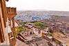 "Jodhpur view from Mehrangarh Fort<br /> Jodhpur is also named as ""the blue city"" because of the  many blue buildings in the old town. Today anybody can have a blue house. In ancient times it was the privilege of the Brahman (clerics) caste. The indigo pigment not only coloured the paint but was also effective against insects."