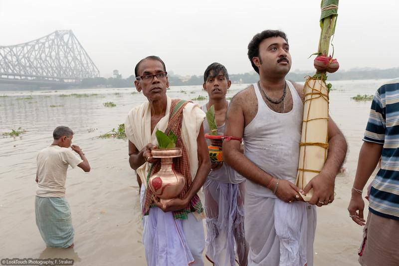 Worship of mother nature during Durga puja